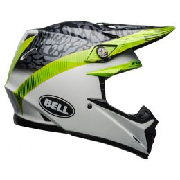 KASK BELL MOTO-9 MIPS CHIEF BLACK/WHITE/GREEN L