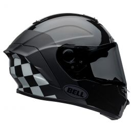 KASK BELL STAR DLX MIPS LUX CHECKERS MATTE/GLOSS BLACK/WHITE S