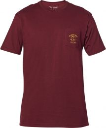 T-SHIRT FOX WRENCHED PCKT PREM CRANBERRY S