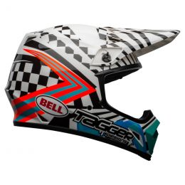 KASK BELL MX-9 MIPS TAGGER CHECK ME OUT GLOSS WHITE/BLACK S