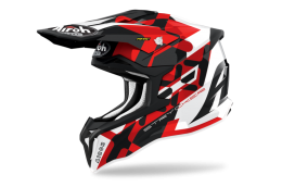 KASK AIROH STRYCKER XXX RED GLOSS XS