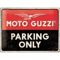 Tablica plakat 30x40 Moto Guzzi Parking Only